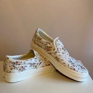 Vans Floral Vintage Slip On Sneakers